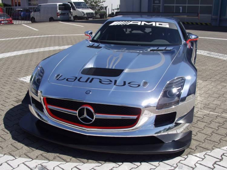 Mercedes SLS AMG GT3 cromado