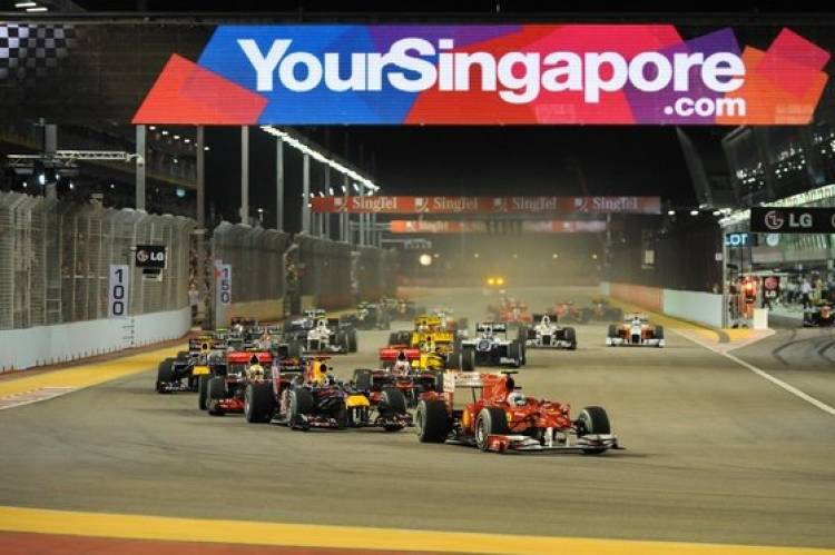 Salida GP Singapur 2010
