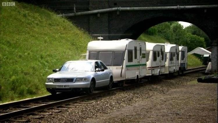 Cómo convertir un coche en locomotora de tren según Top Gear