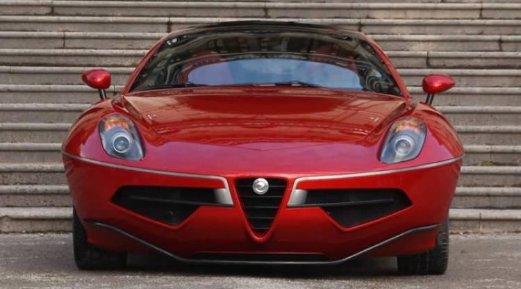 Touring Superleggera Disco Volante: artesanal y basado en el Alfa Romeo 8C