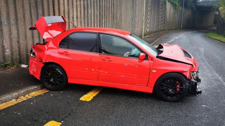 Accidente Mitsubishi Lancer Evo Ix Concurso 2
