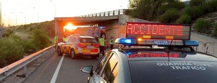 Accidente Moto Coche Guardia Civil