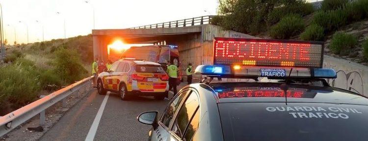 Accidente Moto Guardia Civil