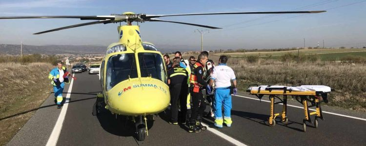 Accidente Moto Helicoptero Summa