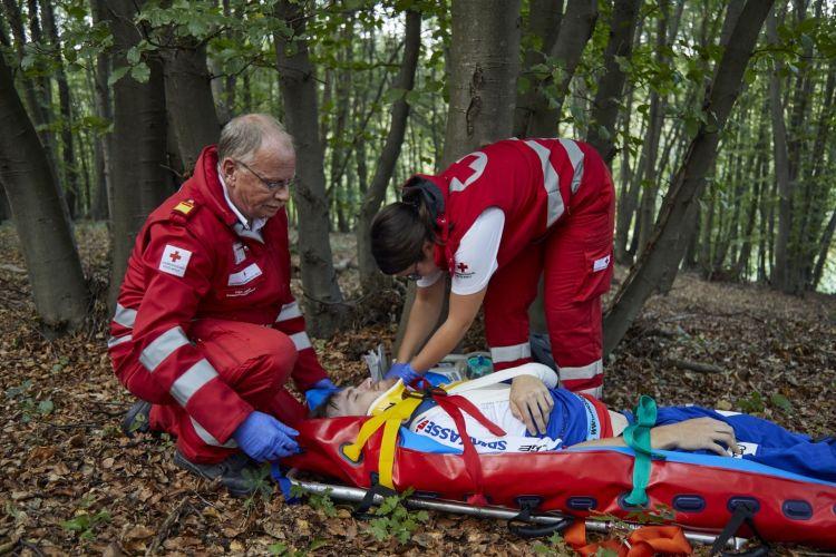 Accidente Moto Paramedicos Cruz Roja