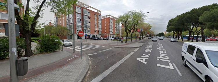 Acera Bici Madrid Cruce 2