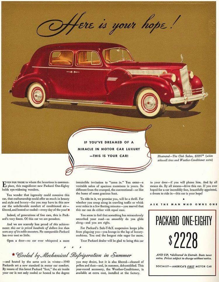 Aire Acondicionado Anuncio Packard One Eighty
