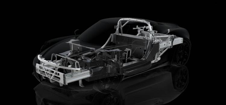 Chasis y subchasis del Alfa Romeo 4C
