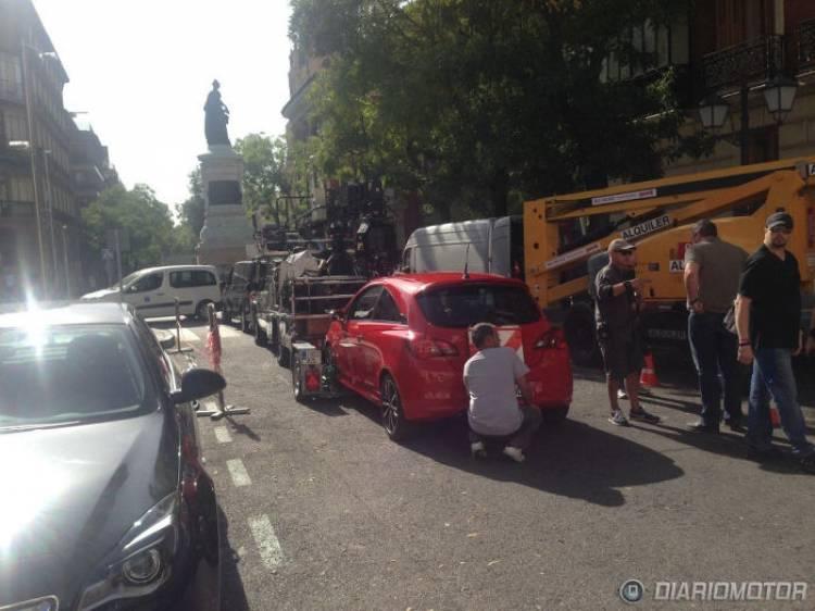Nos encontramos al nuevo Opel Corsa de rodaje por Madrid
