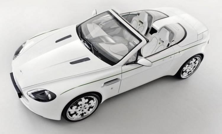 Aston Martin V8 Vantage Volante Blanc de Blancs diseñado por Graf Weckerle