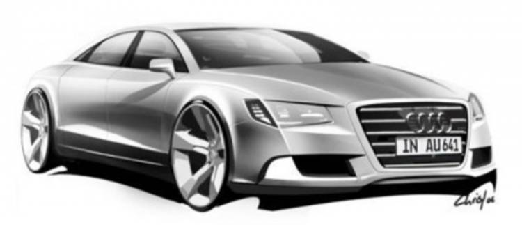 Audi A8 2010 teaser