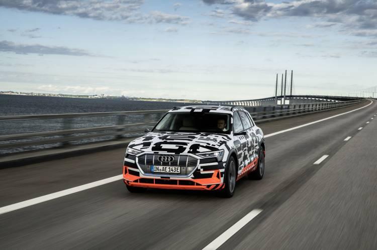 The Audi E Tron Prototype On The Öresund Bridge