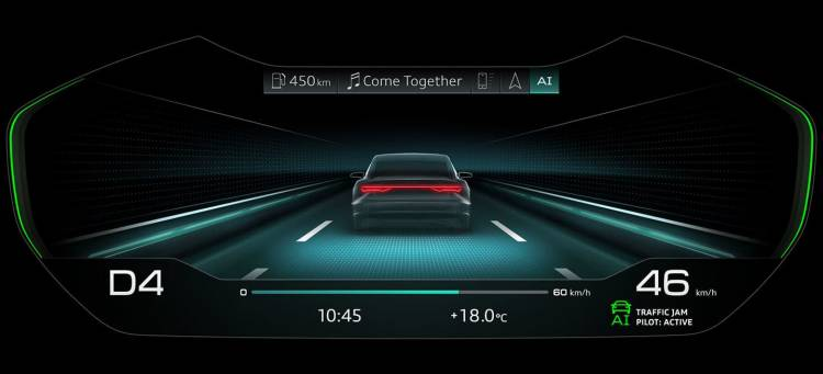 The traffic jam pilot in the new Audi A8