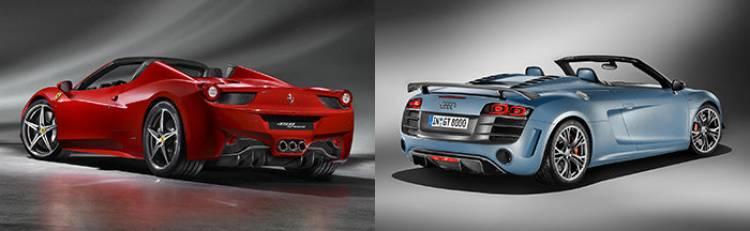 Audi R8 GT Spyder o Ferrari 458 Spider