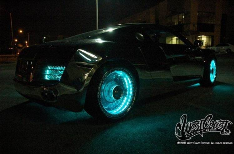Un Audi R8 salido de Tron, por West Coast Customs