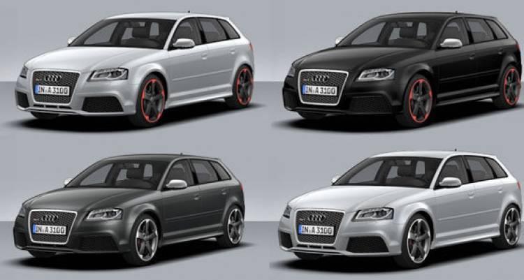 Audi RS 3 Sportback, imágenes del configurador alemán