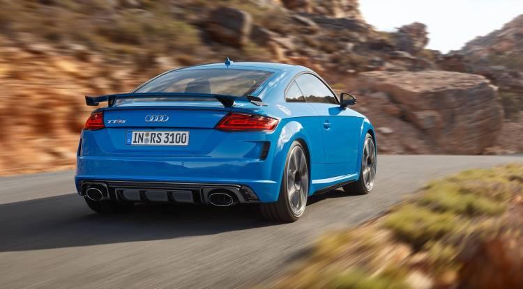 Audi Tt Rs 2019 Azul Exterior Movimiento 02 Trasera