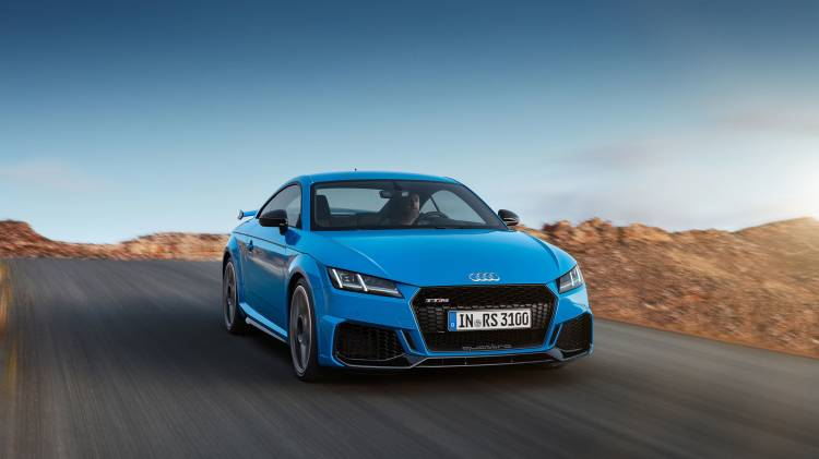 Audi Tt Rs 2019 Azul Exterior Movimiento 04