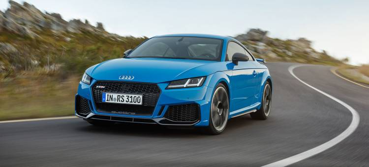 Audi Tt Rs 2019 Azul Exterior Movimiento 16 Frontal