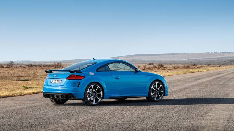 Audi Tt Rs 2019 Azul Exterior Movimiento 17