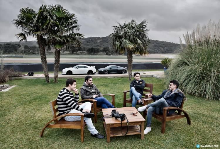 Equipo Diariomotor: David Clavero Domínguez, Pepe Giménez Vílchez, Juanma Cámara García y Mario Herraiz López