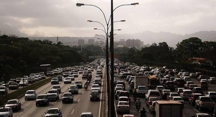 Tráfico denso autopista
