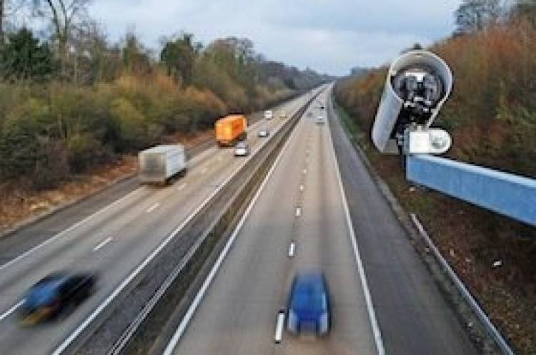 Foto autopista autovía radar tramo