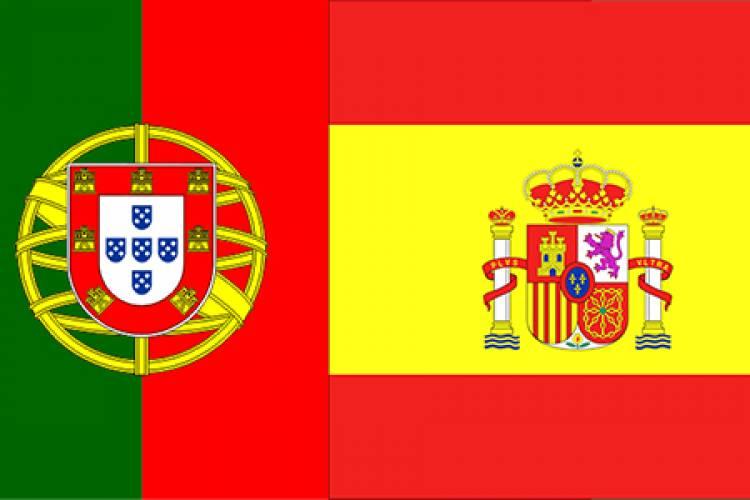 Bandera española bandera portuguesa