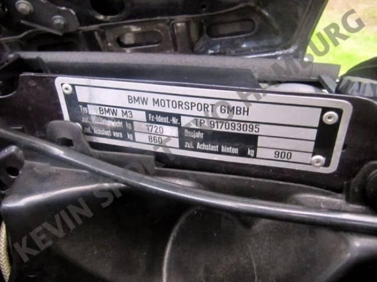 A la venta un supuesto BMW M3 E30 Sport Evolution Cabrio único