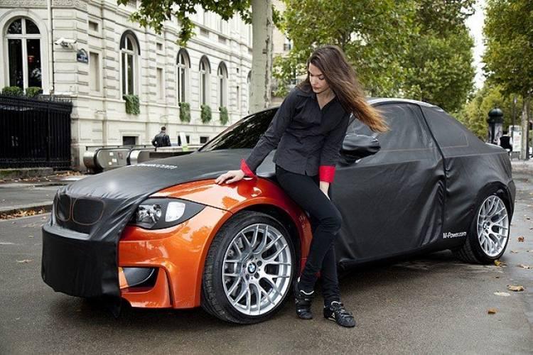 BMW Serie 1 M Coupé camuflado en París