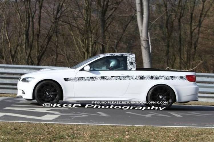 Espiado en Nürburgring un extraño BMW M3 pick-up