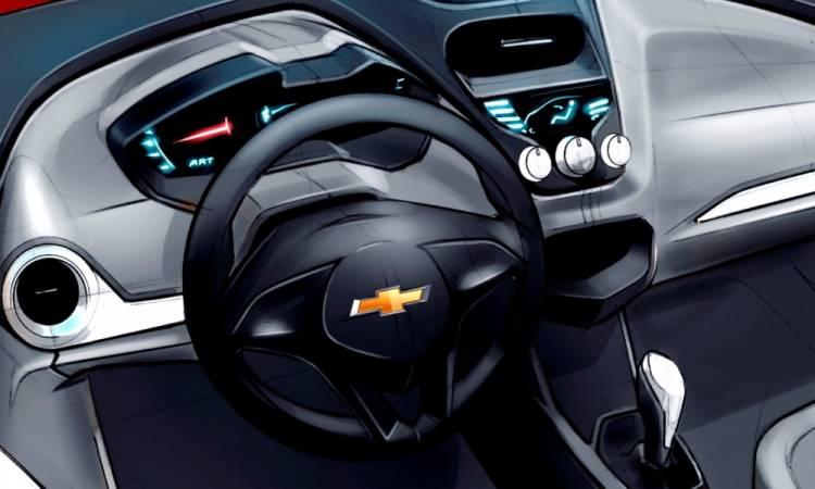 Bocetos del Chevrolet Agile