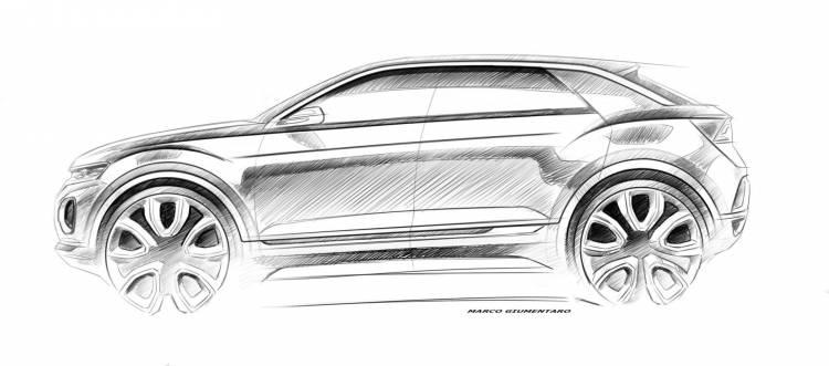 Bocetos Volkswagen Suv 1425539 T Roc Concept Sketch 1