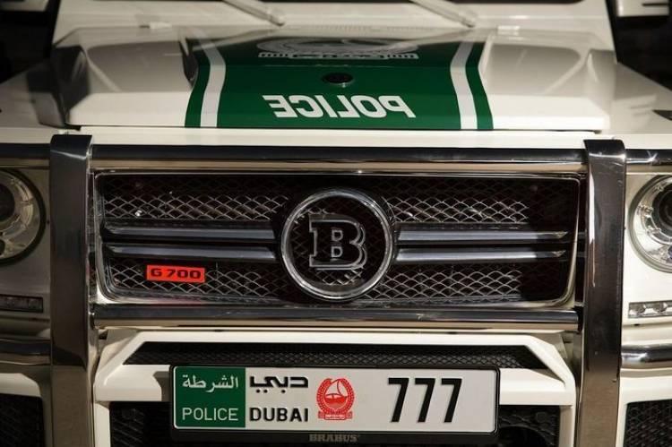 Ostentación y poderío económico: la policía de Dubai compra un Brabus G63 AMG de 700 CV