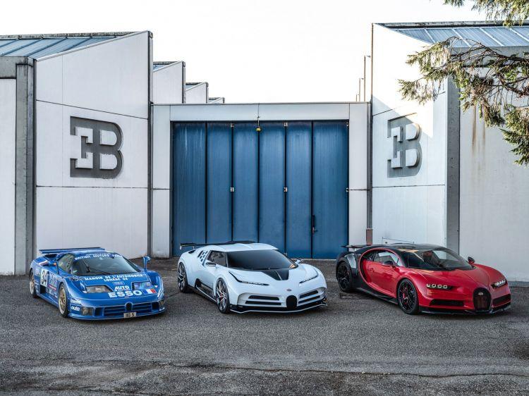Bugatti EB110, Centodieci y Chiron