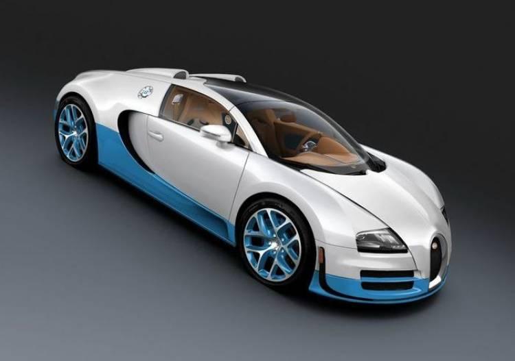 Bugatti Veyron Grand Sport Vitesse Special Edition, azul y blanco para Pebble Beach