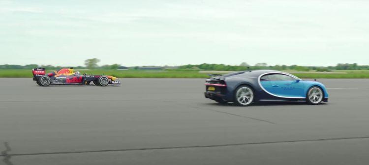 Bugatti Vs F1 Drag Race