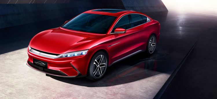 Byd Han Ev 2020 Rojo Frontal Electrico Tesla