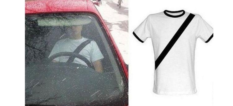Camiseta Antimultas Cinturon Seguridad