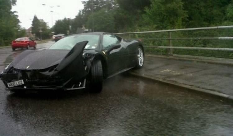 Otro accidente más de un Ferrari 458 Italia
