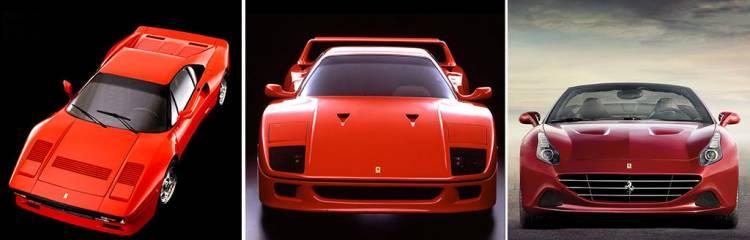 Ferrari 288 GTO, F40 y California T