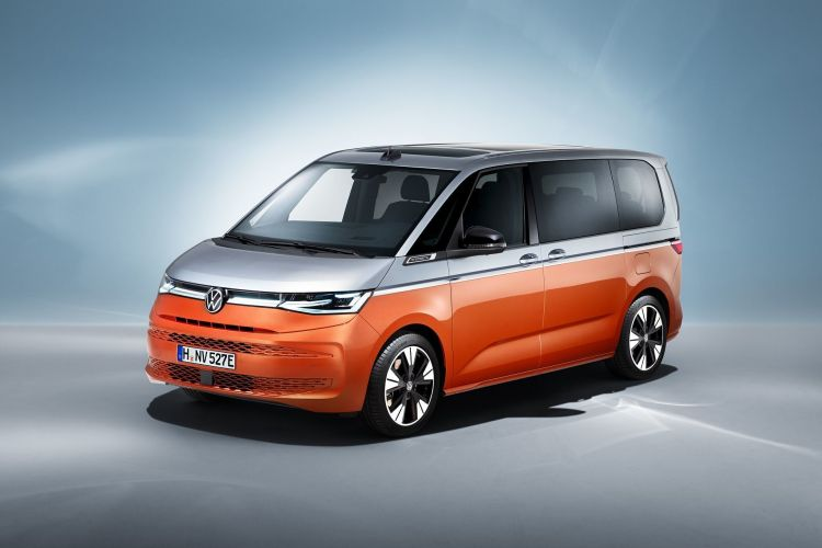 Color Coche Volkswagen Multivan Gris Naranja