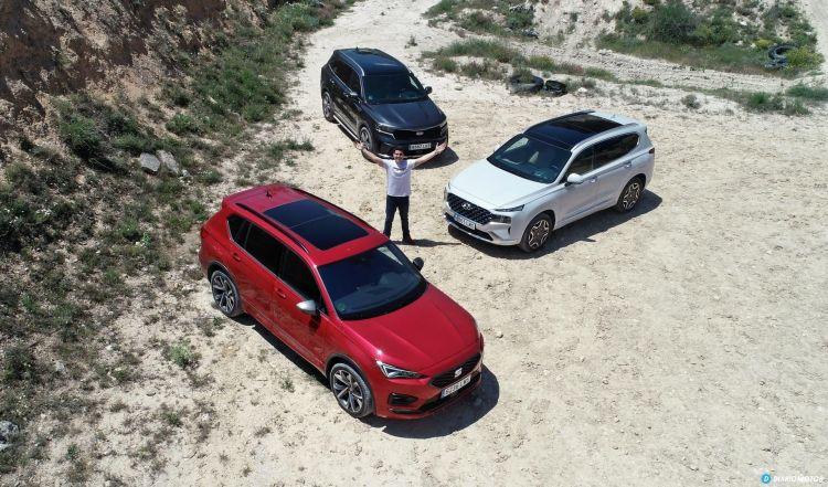 Comparativa 4x4 Hyundai Santa Fe Kia Sorento Seat Tarraco 01