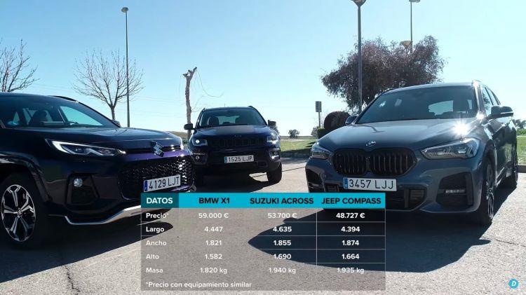 Comparativa Phev Bmw X1 Suzuki Across Jeep Compass