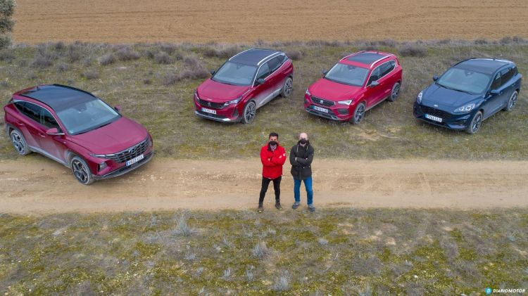 Comparativa Suv Hyundai Tucson Peugeot 3008 Ford Kuga Seat Ateca 2021
