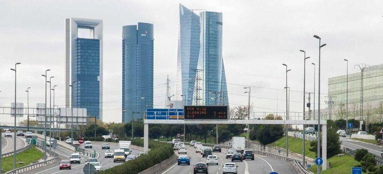 Coronavirus Estado De Alarma Trafico Madrid Skyline