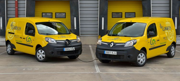 Correos Furgonetas Electricas Renault Kangoo 1