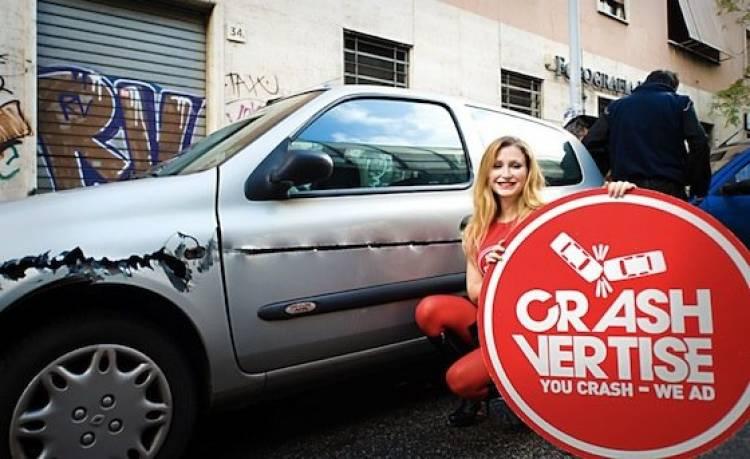 Crashvertise, pon anuncios en los accidentes de coche