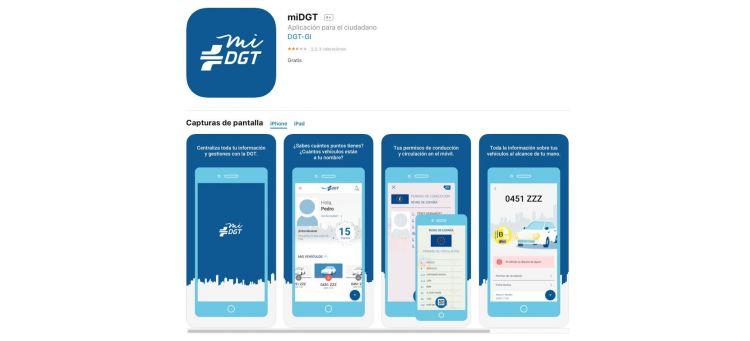 Descargar Carne Conducir Movil Ios Iphone App Mi Dgt