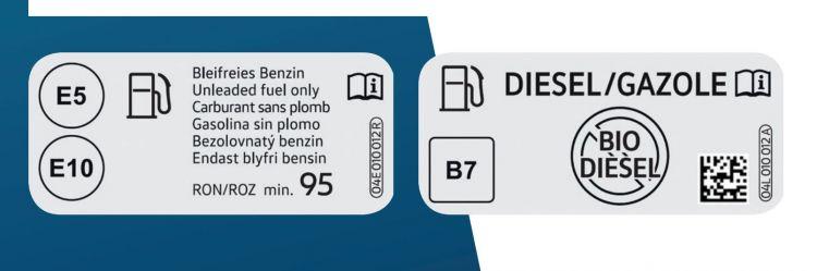 Diesel R33 Biodiesel B7 Etiqueta Combustible